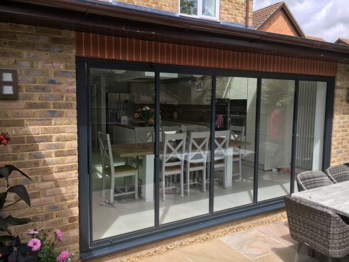 aluminium slide and turn doors