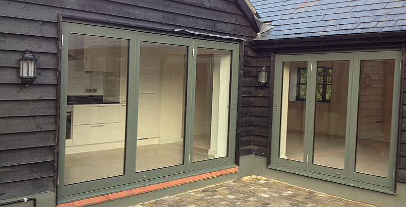 Bi Folding Doors with special RAL colour option