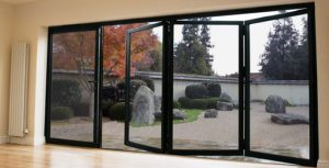 bi folding doors - black