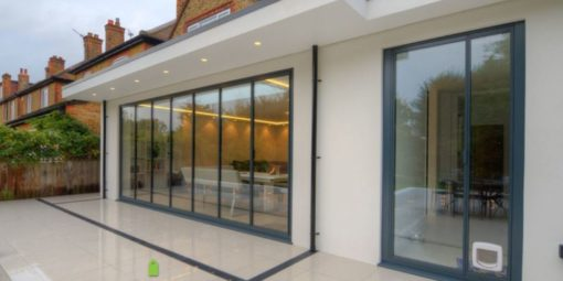 panoramic slide and swing doors